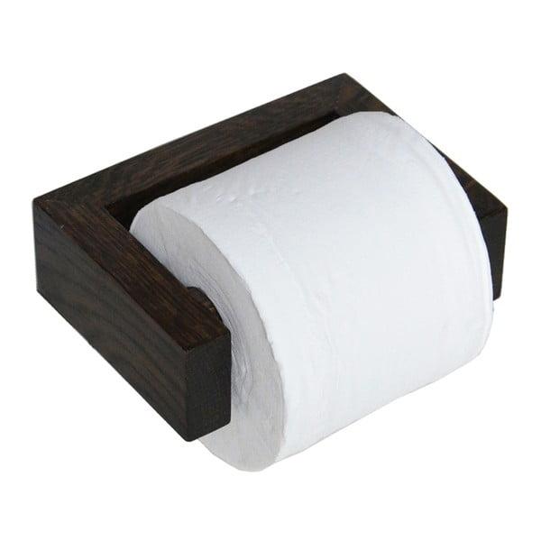 Držák na toaletní papír, tmavý dub