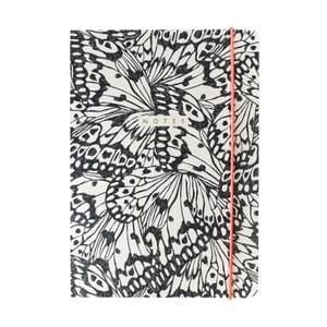Zápisník A5 Portico Designs Butterfly, 160stránek