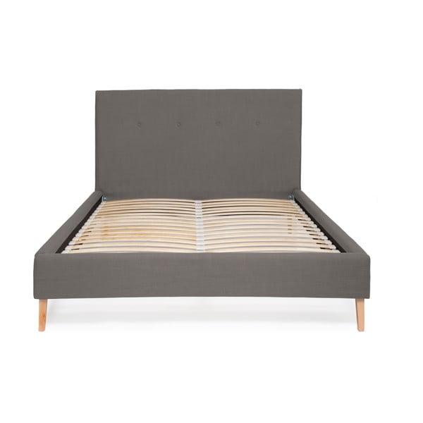 Szare łóżko Vivonita Kent Linen, 200x140cm