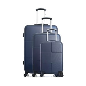 Sada 3 modrých cestovních kufrů na kolečkách Hero Coronado