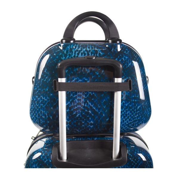 Modrý cestovní kosmetický kufřík SKPA-T