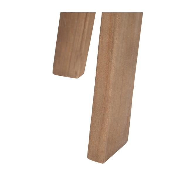 Dřevěný odkládací stolek s bílými detaily J-line Cer, 43cm