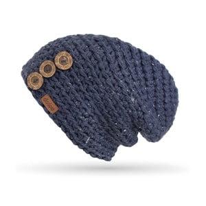 Căciulă cu nasturi, tricotată manual DOKE Denim