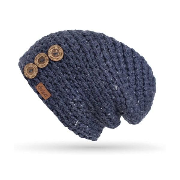 Ručne háčkovaná čiapka s gombíkmi DOKE Denim