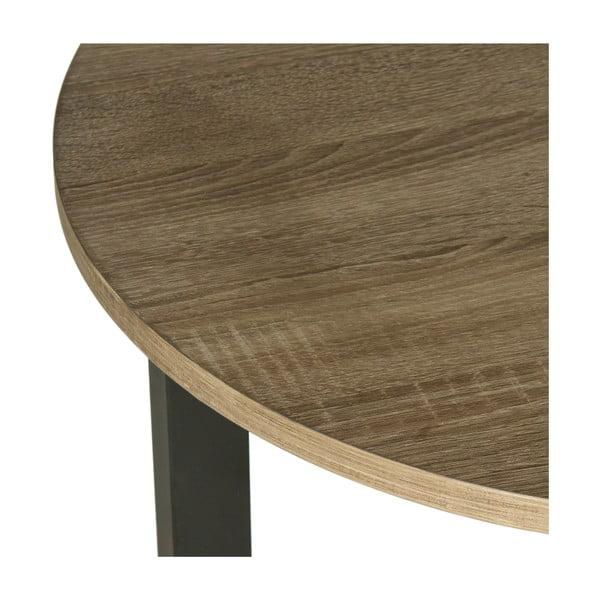 Černý odkládací stolek s tmavou deskou Safavieh Alyssa