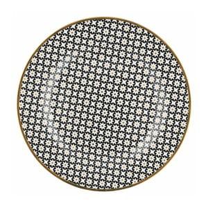 Talíř s černým vzorem Green Gate Dot, ⌀20,5cm
