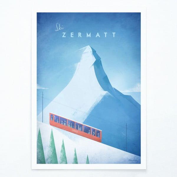 Poster Travelposter Zermatt, A2