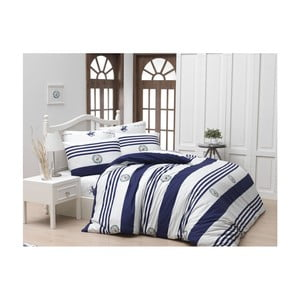Lenjerie de pat cu cearșaf Beverly Hills Polo Club Charles, 160 x 220 cm