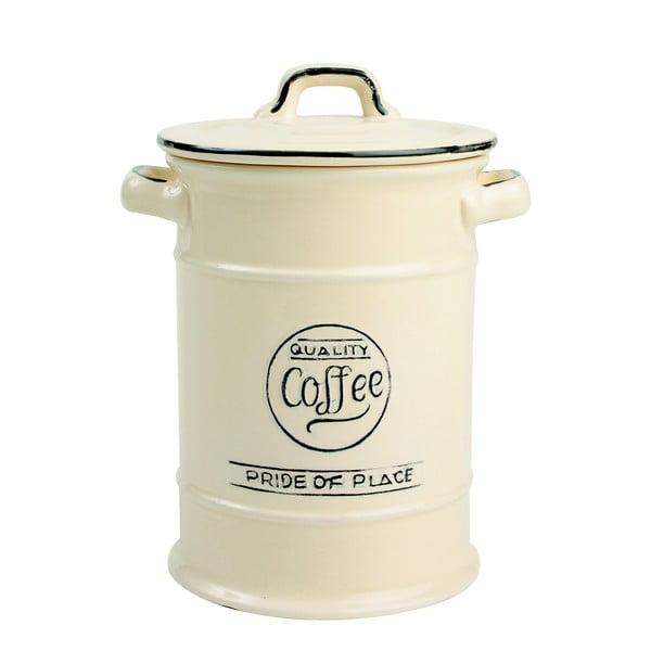 Krémovobiela keramická dóza na kávu T&G Woodware Pride of Place