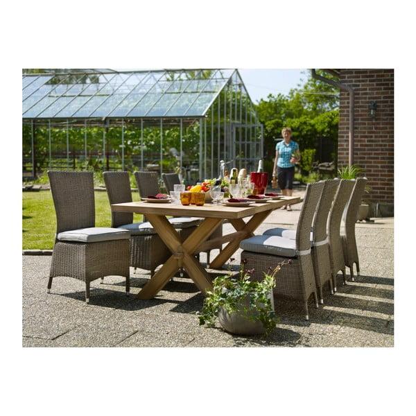 Sada 2 zahradních židlí s podsedákem Brafab Ninja Rustic