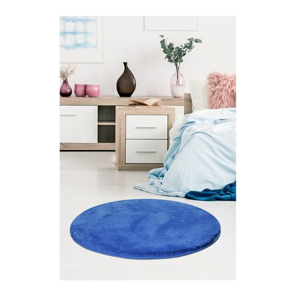 Niebieski dywan Milano, ⌀ 90 cm