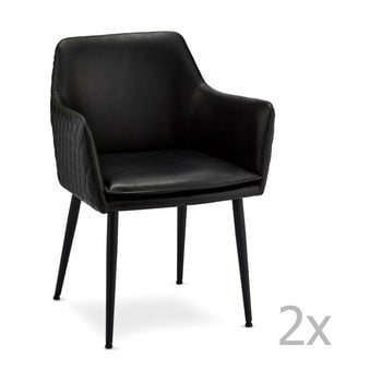 Set 2 scaune Furnhouse Shiva, negru imagine