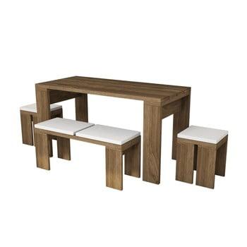 Set masă cu bancă și scaune Asrina