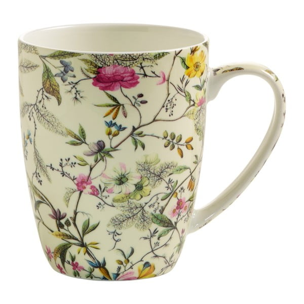 Hrnek z kostního porcelánu Maxwell & Williams Kilbum Summer Blossom, 390 ml