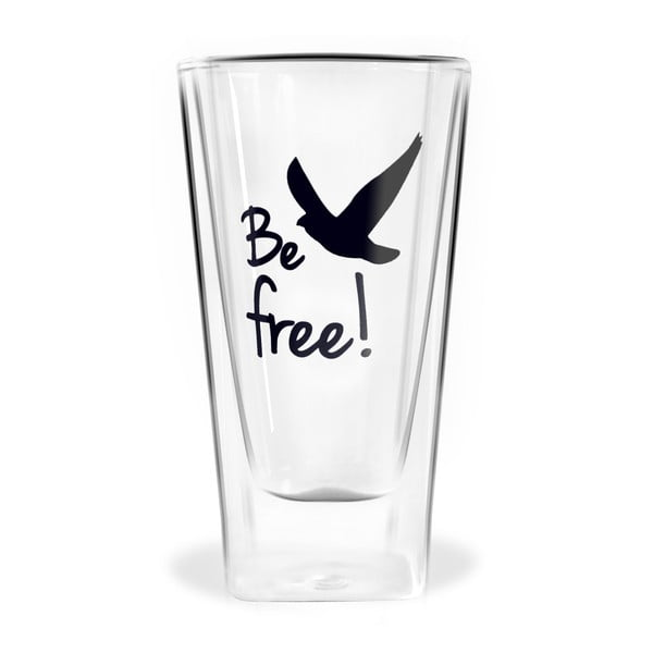 Be Free duplafalú pohár, 300 ml - Vialli Design