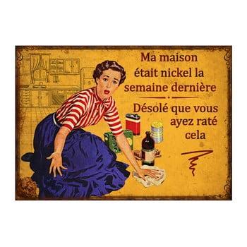 Placă metalică Antic Line Maison Michel, 21 x 15 cm