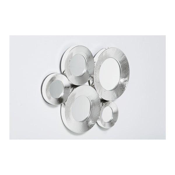 Nástěnné zrcadlo ve stříbrné barvě Kare Design Circoli