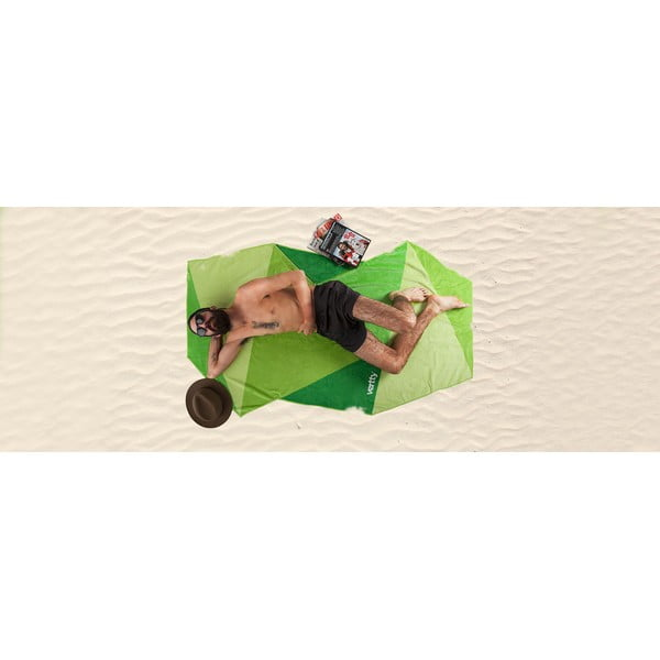 Designová plážová osuška Vertty Classic Green