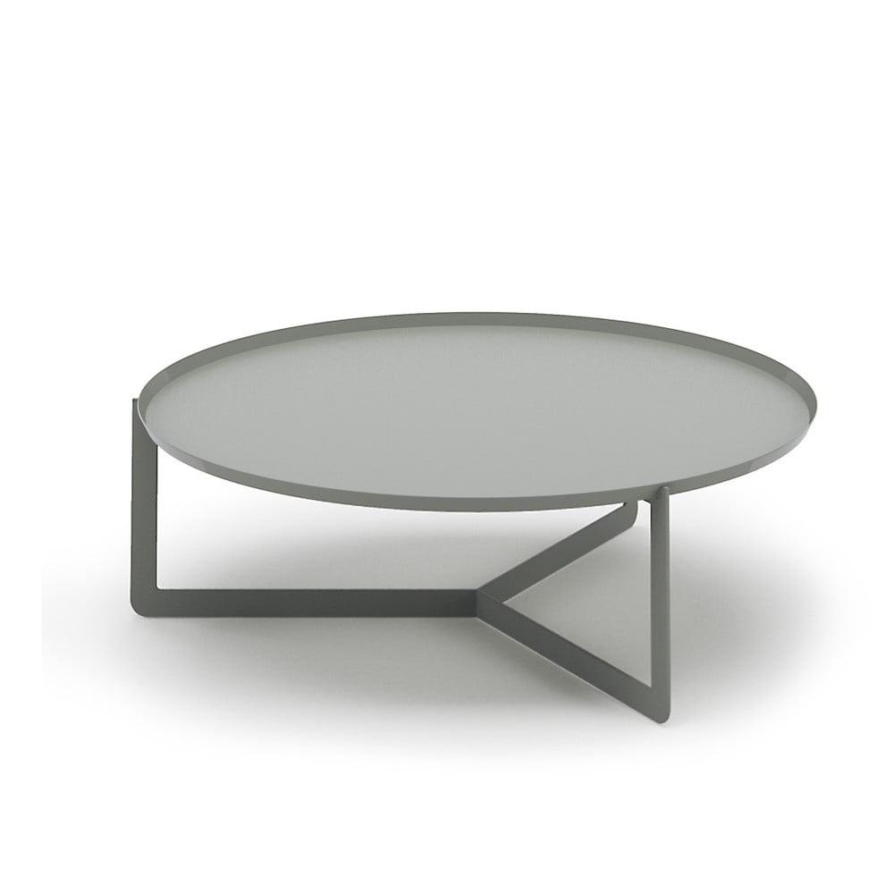 Světle šedý konferenční stolek MEME Design Round, Ø 80 cm