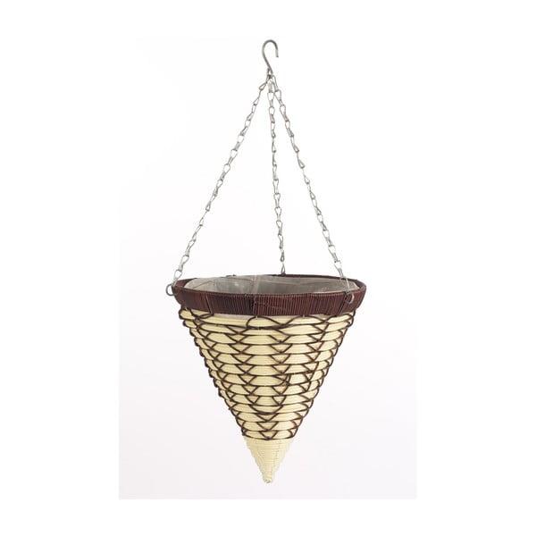 Závěsný ratanový květináč Cone Luxury