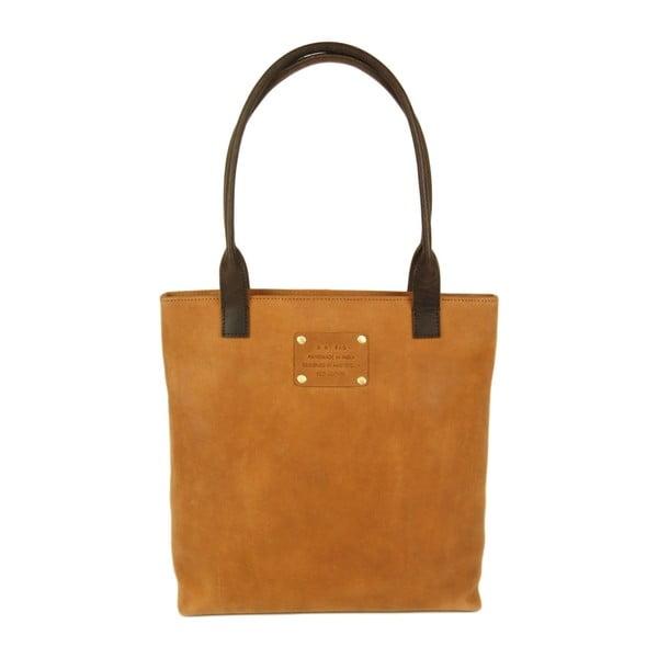 Svetlohnedá kožená kabelka O My Bag Posh Stacey midi