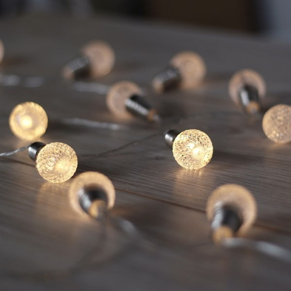 Svítící řetěz ve tvaru kuliček DecoKing Cicle,2,4m