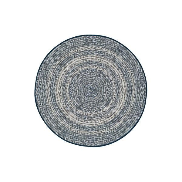 Modrý venkovní koberec Universal Silvana Rutto, ⌀ 120 cm