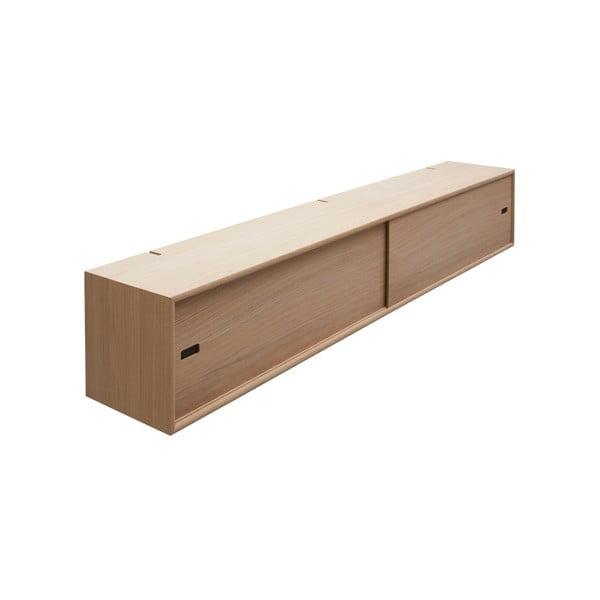 Světle hnědá nástěnná skříň k policovým dílům Less WOOD AND VISION Cabinet, 158 x 26 cm