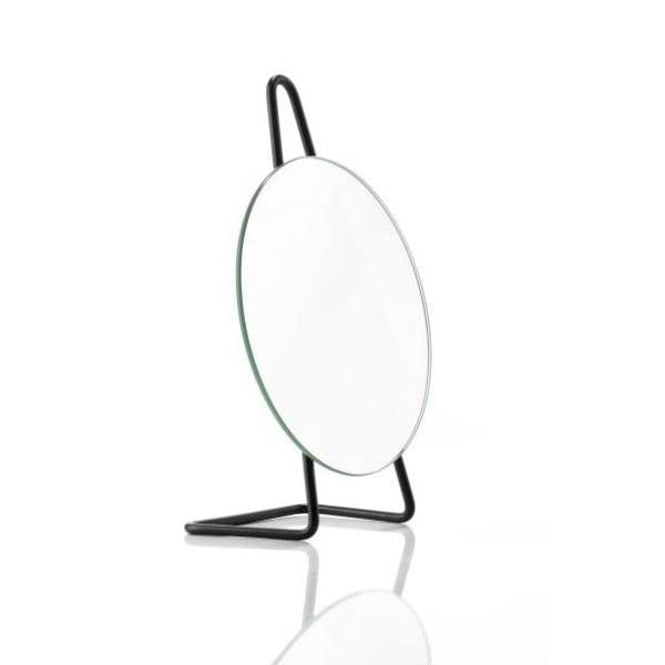 Čierne oceľové stolové kozmetické zrkadlo Zone A-Mirror, ø 31 cm