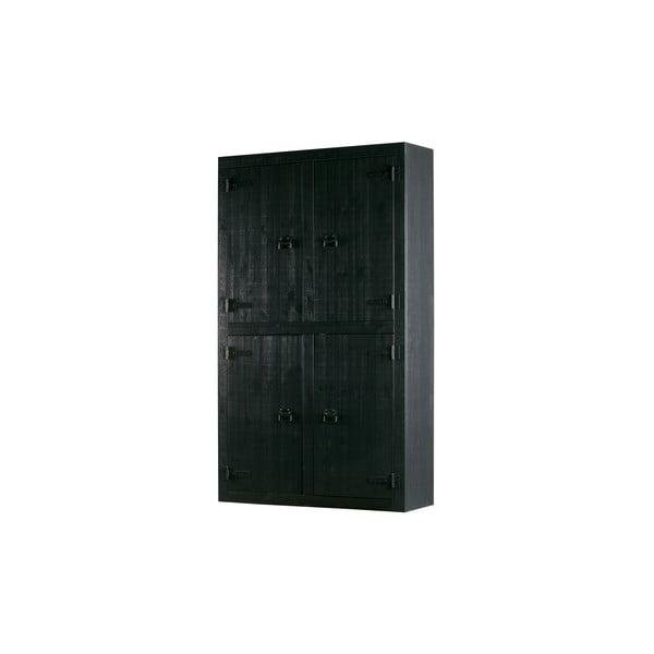Černá šatní skříň vtwonen Bunk