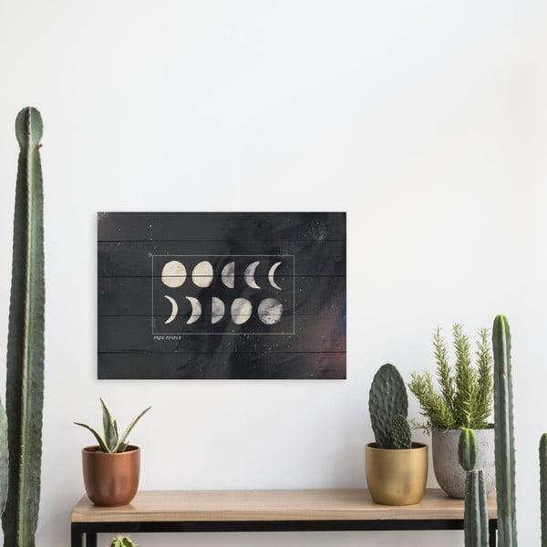 Dřevěná cedule Really Nice Things Moon
