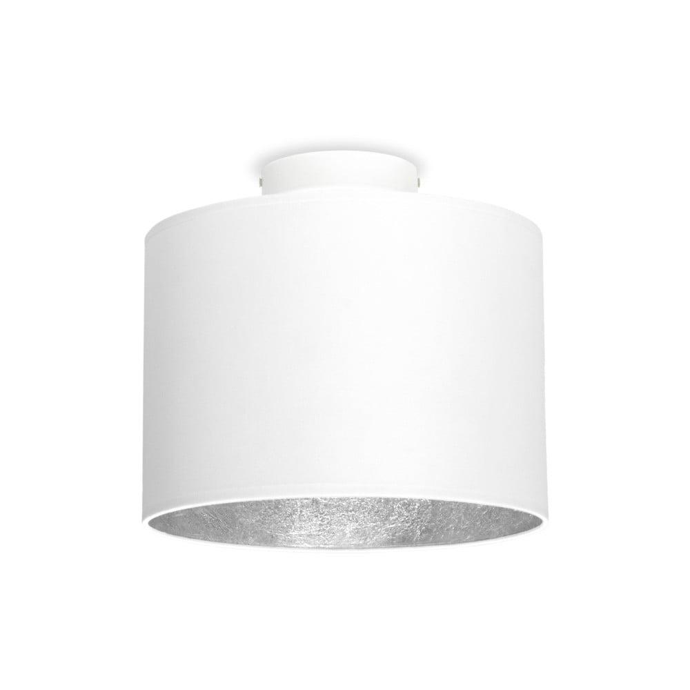 Bílé stropní svítidlo s detailem ve stříbrné barvě Sotto Luce MIKA,Ø25cm