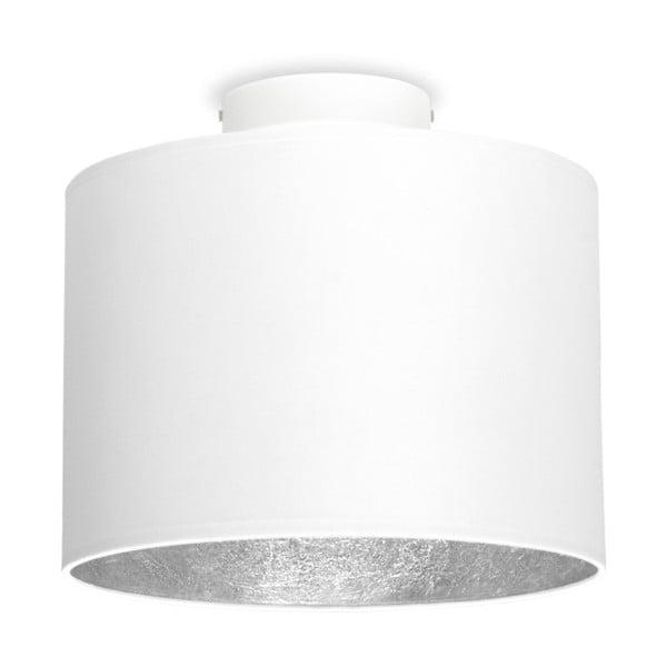 Bílé stropní svítidlo s detailem ve stříbrné barvě Sotto Luce MIKA,⌀25cm