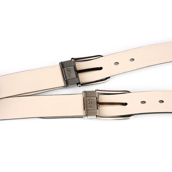 Pánský kožený pásek 3PT10 Black, 110 cm