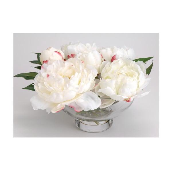 Umělé květiny ve váze Peony White