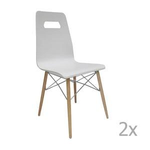 Sada 2 bílých židlí Evergreen House Ricardo