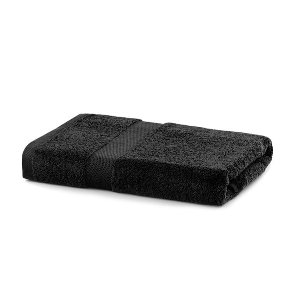 Černý ručník DecoKing Marina, 70 x 140 cm