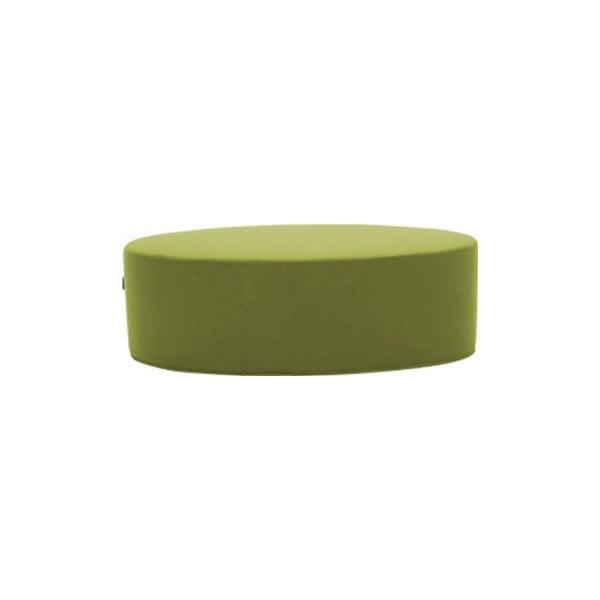 Zelený puf Softline Bon-Bon Felt Melange Lime, délka 100 cm