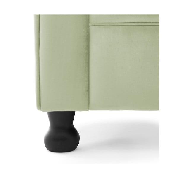 Světle zelené křeslo Vivonita Chesterfield