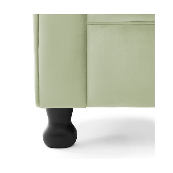 Fotoliu Vivonita Chesterfield, verde deschis