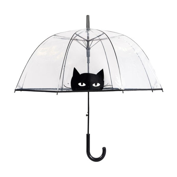 Umbrelă Ambiance Looking Cat, ⌀ 85 cm, transparent