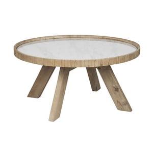 Dřevěný odkládací stolek s bílými detaily J-line Cer,79 cm