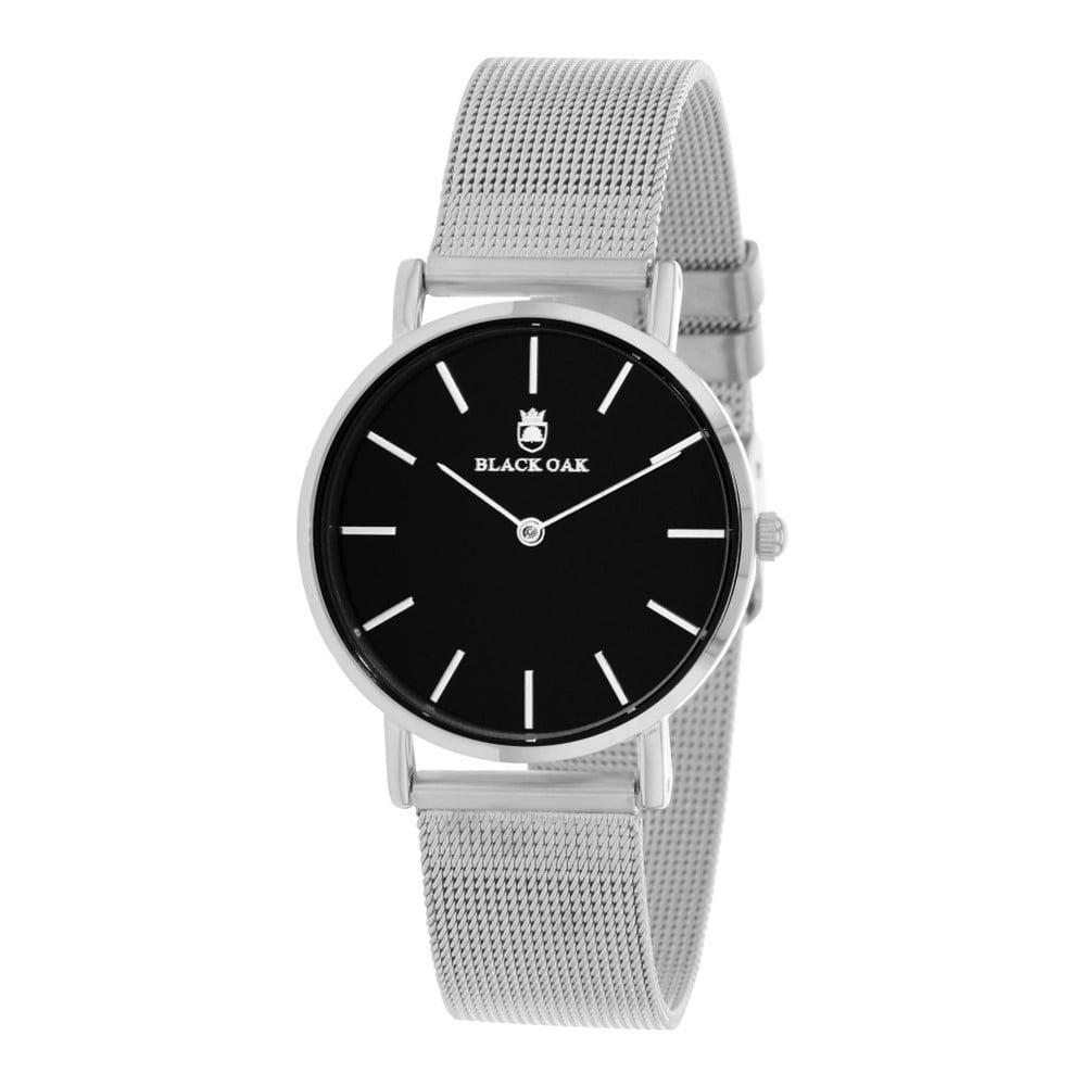 Černostříbrné dámské hodinky Black Oak Dame