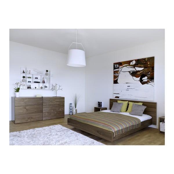 Hnědá postel TemaHome Float, 160x200cm