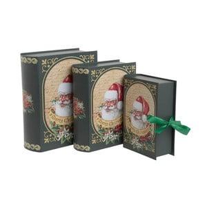 Sada 3 papírových boxů InArt Santa