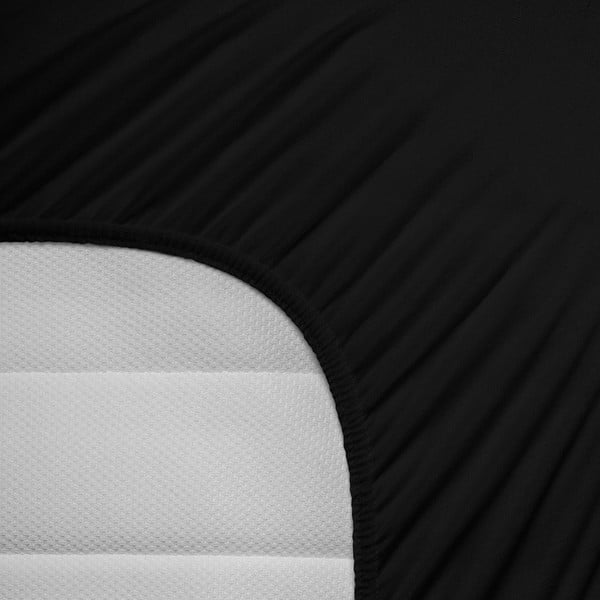 Černé elastické prostěradlo Homecare,140x200cm