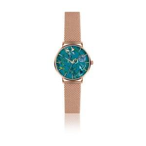 Dámské hodinky s páskem z nerezové oceli v růžovozlaté barvě Emily Westwood Garden