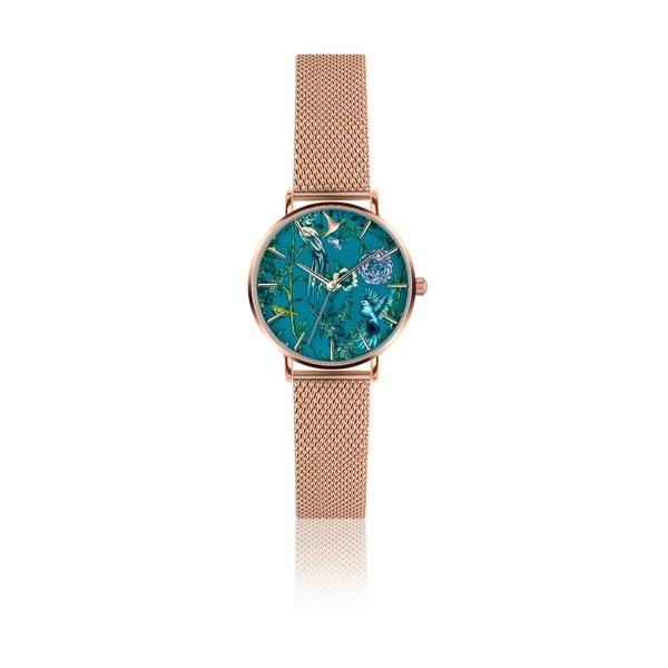 Dámske hodinky s remienkom z antikoro ocele v ružovozlatej farbe Emily Westwood Garden