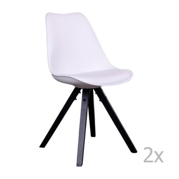 Set 2 scaune cu picioare negre House Nordic Bergen, alb de la House Nordic