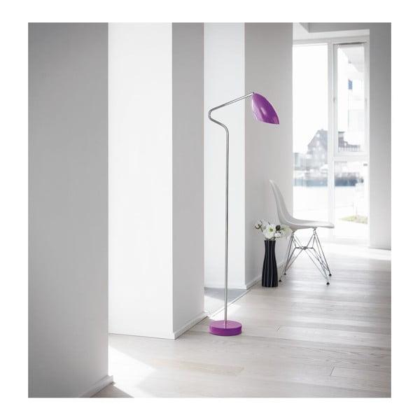 Stojací lampa Diva Chrom Violet